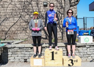 Yay! 3rd overall female.