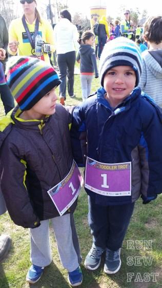 Ready for their toddler trot.