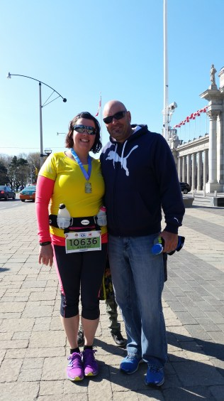 After the race with my husband
