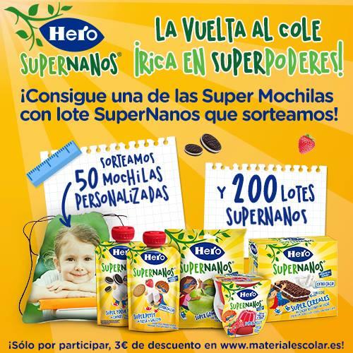 SuperNanos. Super Meriendas con Super Sorteo de Hero Baby. 1