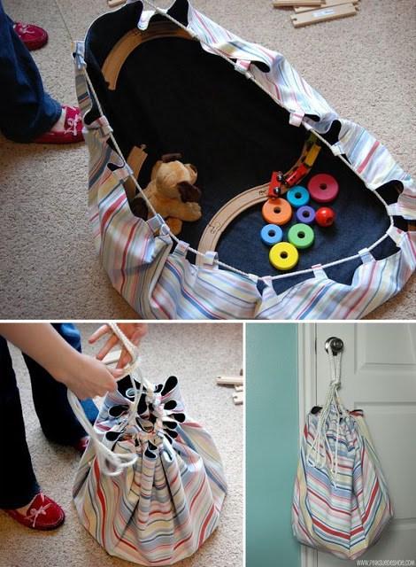 recoger juguetes bolsa diy