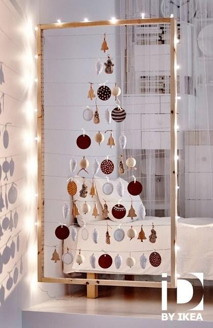 IKEA cortina árbol navidad
