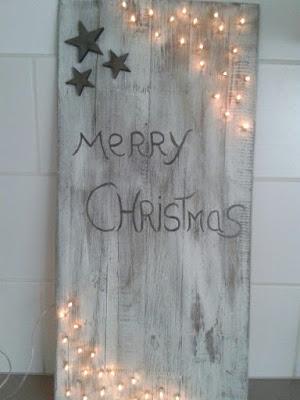 madera blanco navidad decoración