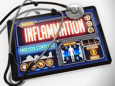 Inflammation Tablet in Doctor's Office