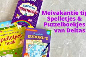 Meivakantie tip Spelletjes & Puzzelboekjes van Deltas