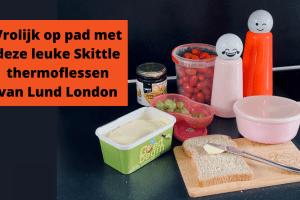 Vrolijk op pad met deze leuke Skittle thermoflessen van Lund London