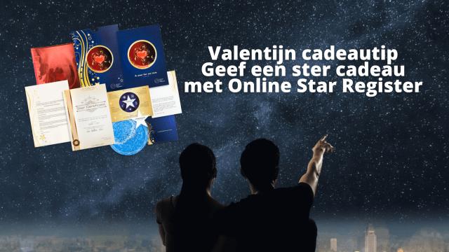 Valentijn cadeau een ster cadeau met Online Star Register