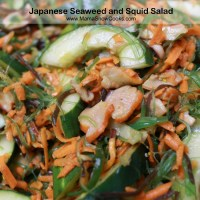Japanese seaweed and squid salad