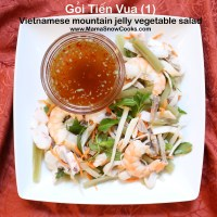 Mountain Jelly Vegetable Salad (Goi Tien Vua)