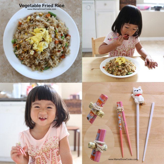 Mama Snow's recipe for vegetable fried rice is toddler-approved!