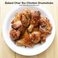 Baked Char Siu Chicken Drumsticks