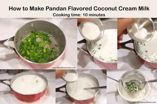 07219 pandan coconut cream milk