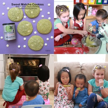 sweet matcha cookies 122619 collage