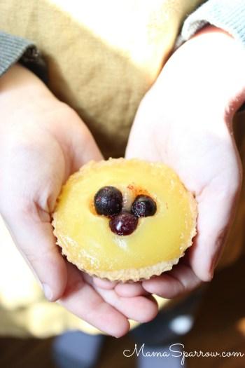 Lemon Cream Blueberry Tartlets