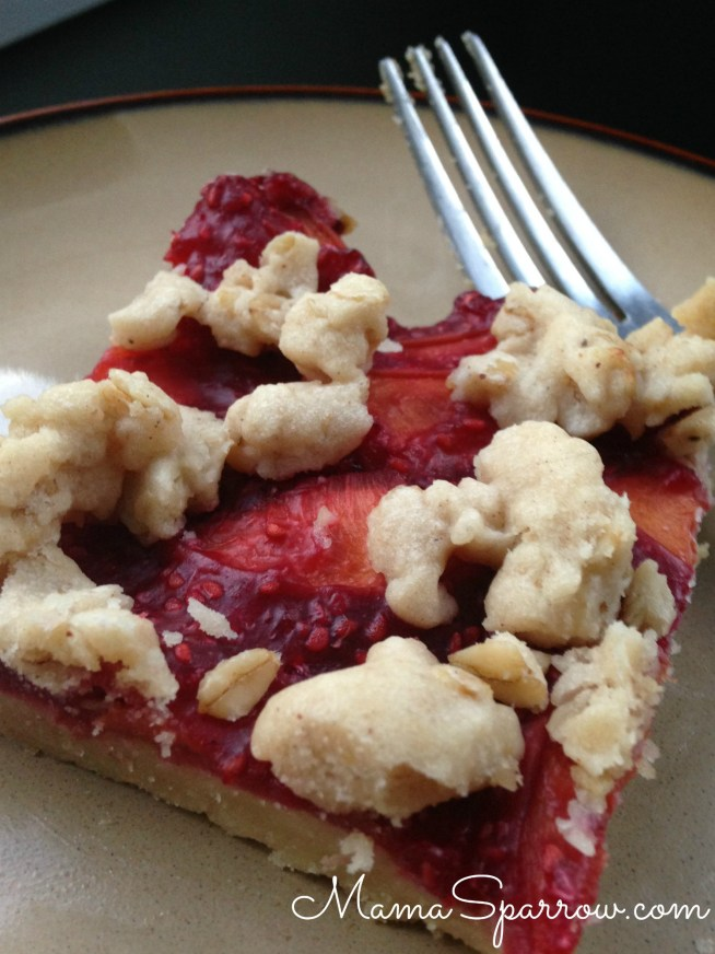 Peach Raspberry Bars