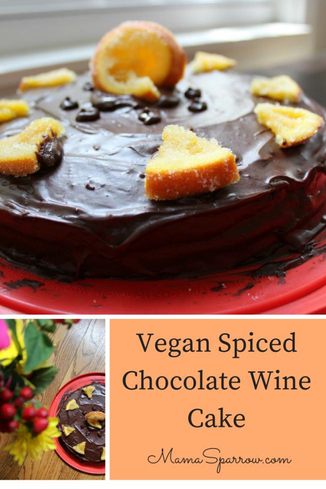 Vegan Spiced Chocolate Wine Cake Pinterest Photo
