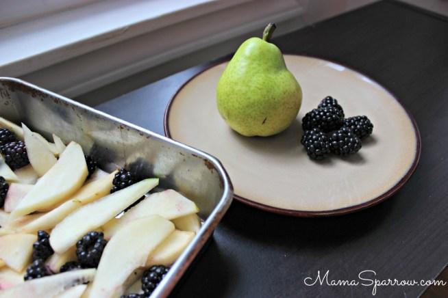 Pear Blackberry Crisp