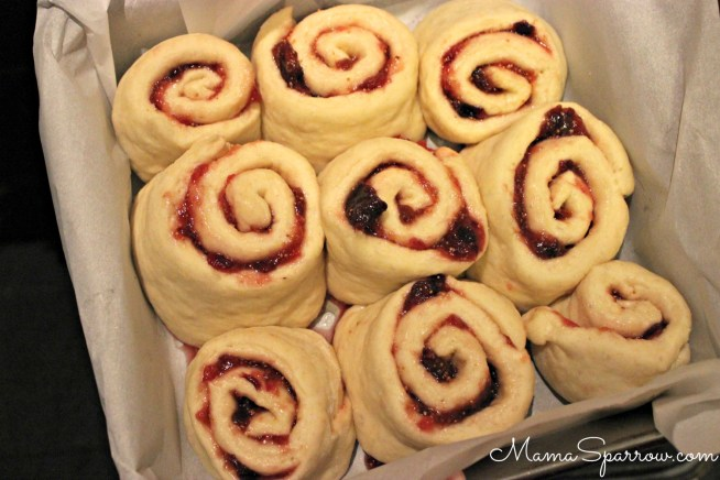 Honey Fig Jam Rolls