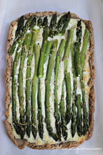 Lemon Asparagus Galette