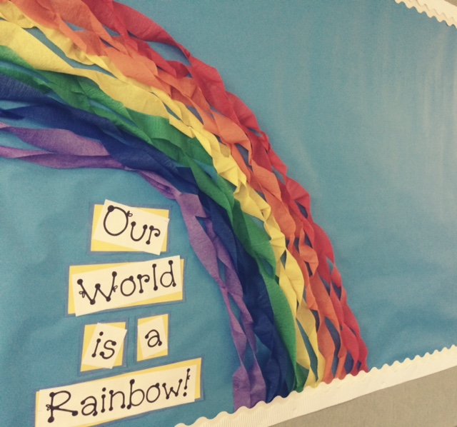 Bulletin Board Rainbow