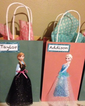 Elsa and Anna Tulle Treat Bags
