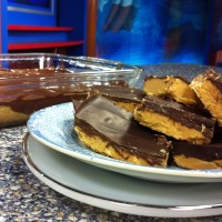 Chocolate Peanut Butter Bars and reflections on graduating kids
