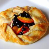 Rustic blueberry-peach galette