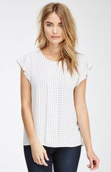 Flutter Sleeve Dotted Top