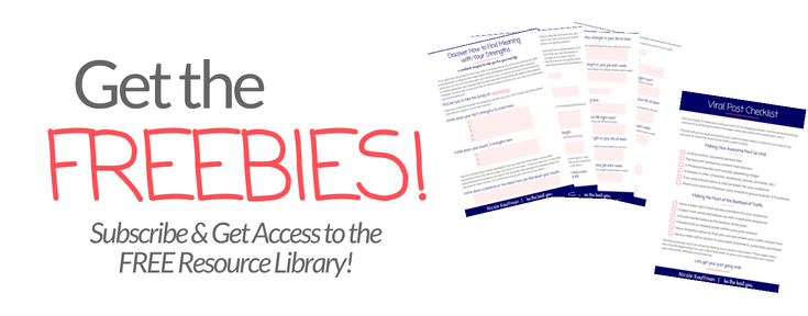 FREE Resource Library - Nicole Kauffman - be the best you