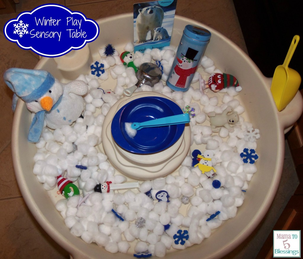 Winter Theme Play Table Learn Amp Link With Linky
