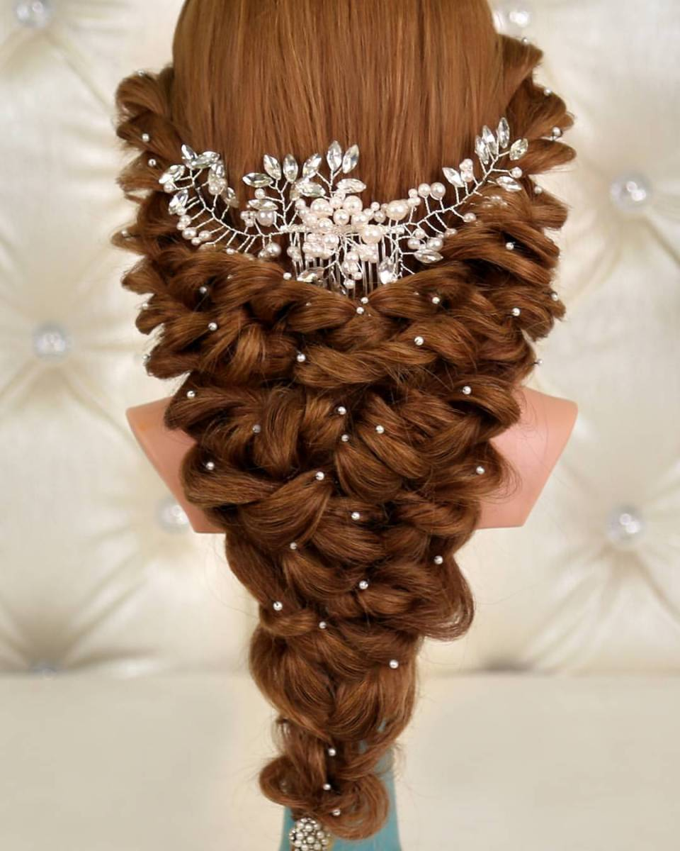 Bridal Hair At Its Best By Kashees Beauty Parlour