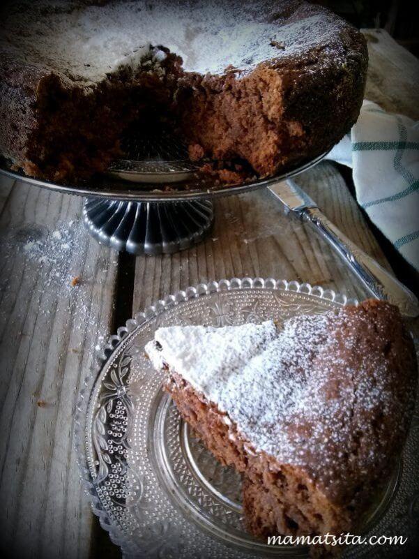 Κέικ με ταχίνι με κακάο