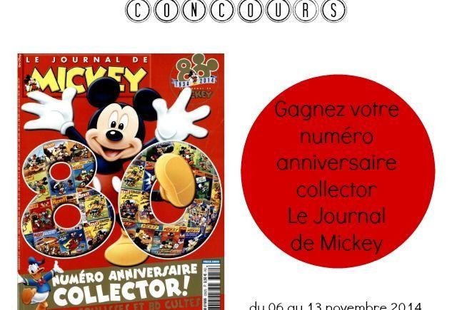 """""""Le Journal de Mickey"""", gagnez le numéro anniversaire"""