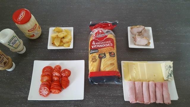 Sandwichs viennois pour le repas !