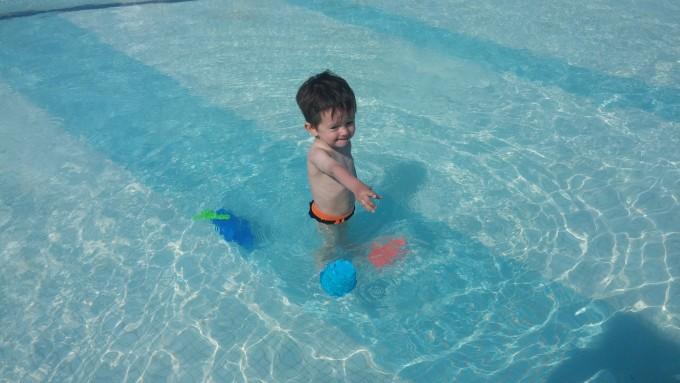 За пръв път на басейн