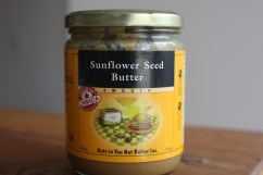 Any nut butter or seed butter works well. If you are new to sunflower seed butter you might want to add .5-1 tbsp extra cacao/cocoa powder to start.