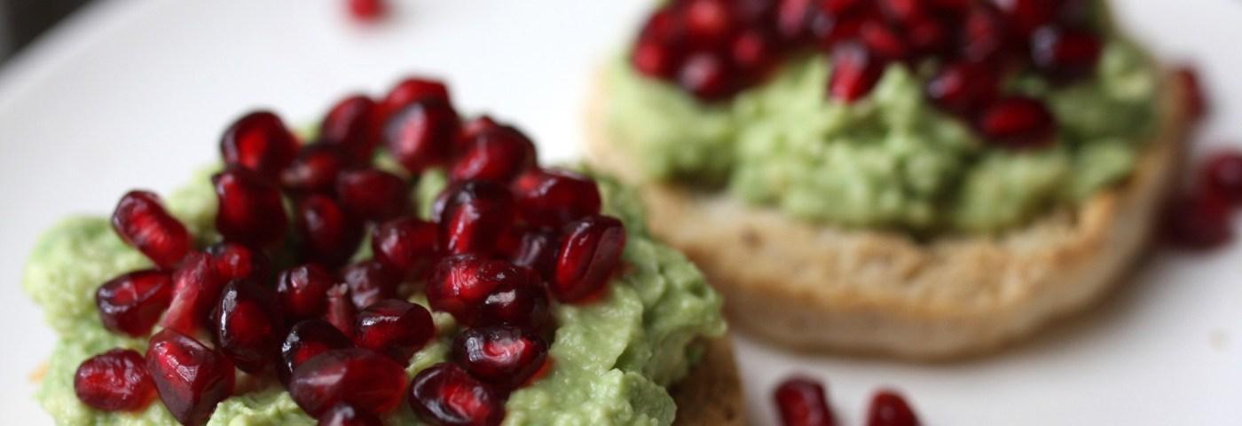 avocado pomegranate toast