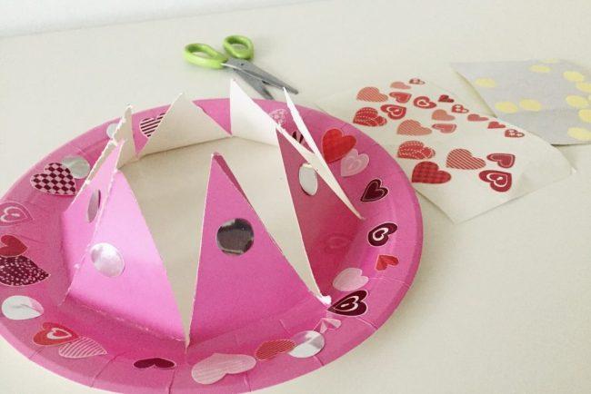 como hacer una corona con un plato