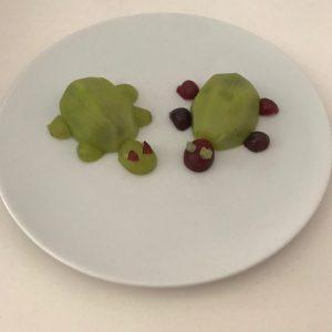 Frutas divertidas, Tortugas de kiwi y uva