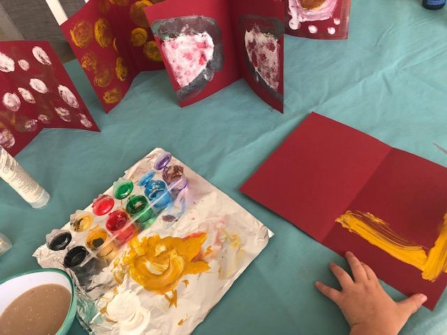 tarjetas pintadas