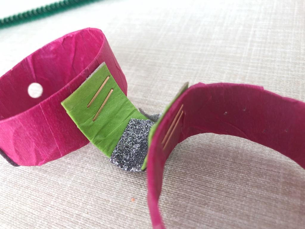 gafas de cartón con washitape
