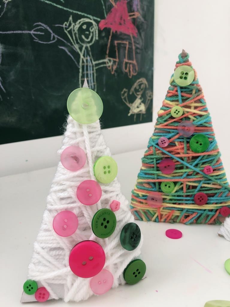 arboles  navidad lana