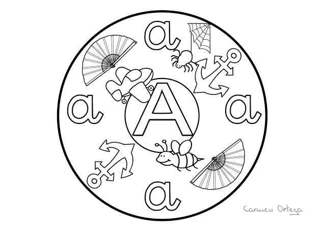 Mandalas del abecedario para colorear - Mamá y maestra