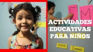 ACTIVIDADES DE APRENDIZAJE PARA NIÑOS | Escribir nombre, aprender colores y figuras | Mamá y maestra