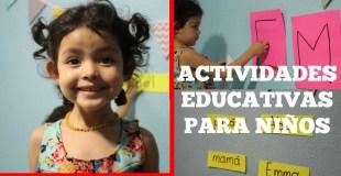 ACTIVIDADES DE APRENDIZAJE PARA NIÑOS   Escribir nombre, aprender colores y figuras   Mamá y maestra
