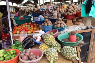 Hoima Lots of fruit and veg available at the local markets. Families will grow a lot of their produce and sell the excess either at the markets or on the roadside