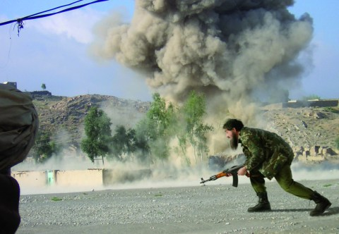 "Deconstructing Osama series: ""Dr. Fasqiyta-Ul Junat in a combat zone in the north of Mazar-e-Sharif, 2003"", (2007) © Joan Fontcuberta"