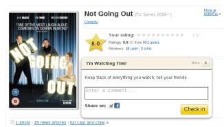 IMDb : Check In Form