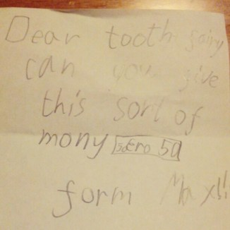Tooth fairy. Take two. :-)