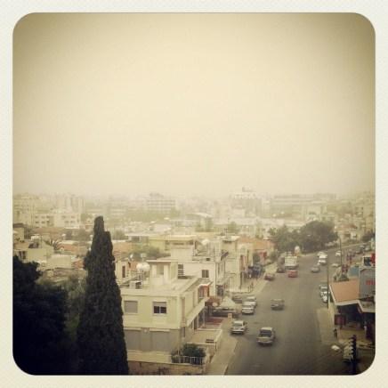 Dust is hiding the sky